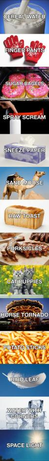 better names for things, lol, Everyday things renamed by a stoner
