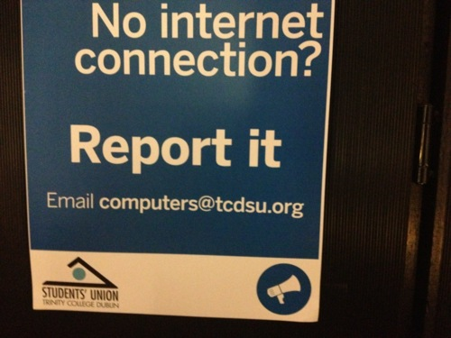 no internet connection? report it!, email computers@tsdsu.org, fail