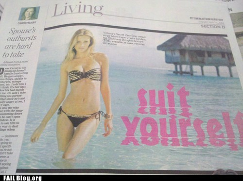 fail, bikini, shit yourself