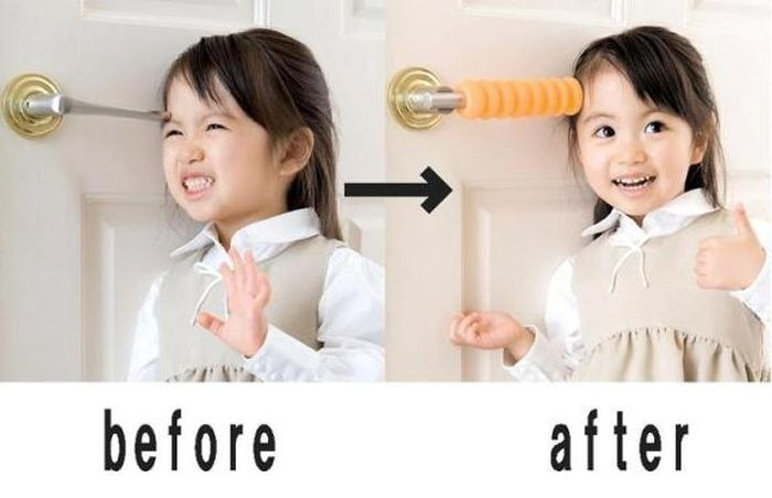 fail, child, ad, product, door handle
