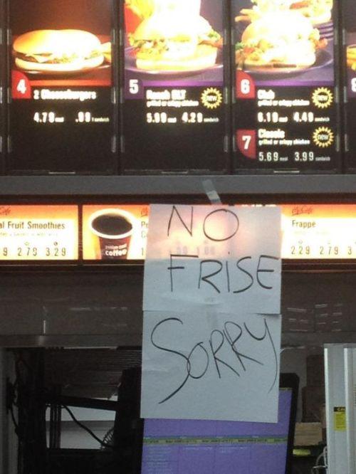 fail, fast food, sign