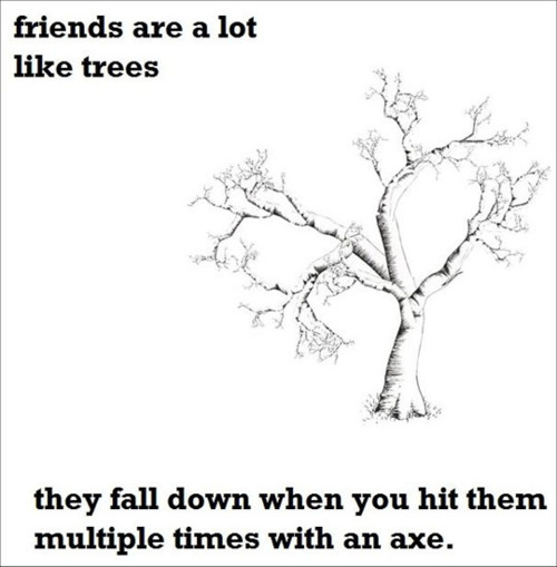 tree, friends, funny, meme