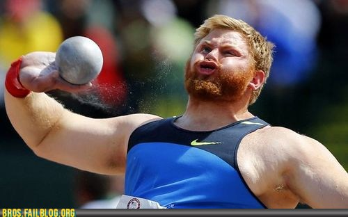 fail, funny, olympics, shot put