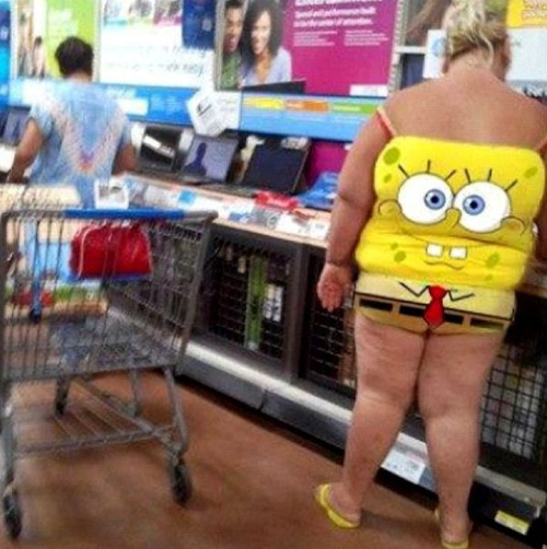 spongebob, fat, shirt, shorts