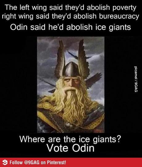 Odin, Ice Giants, politics