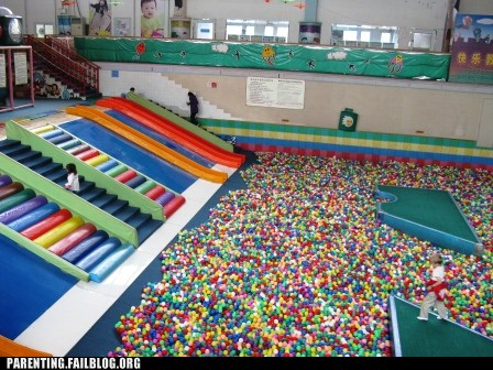 giant ball pit and foam structures