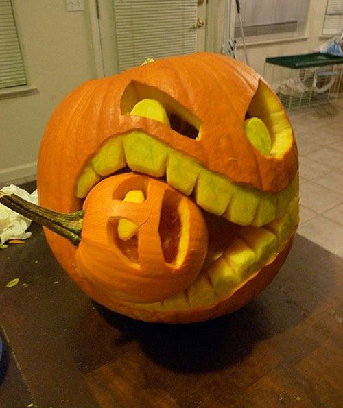 pumpkin, halloween, carving