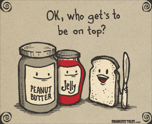 peanut butter, jelly, bread, sandwich, comic