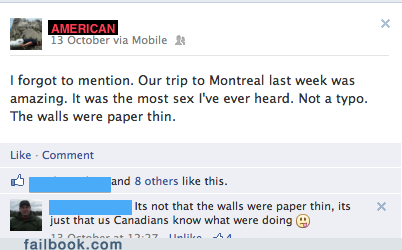 our trip to montreal last week was amazing, I forgot to mention, it was the most sex I've ever heard, not a typo the walls were paper thin