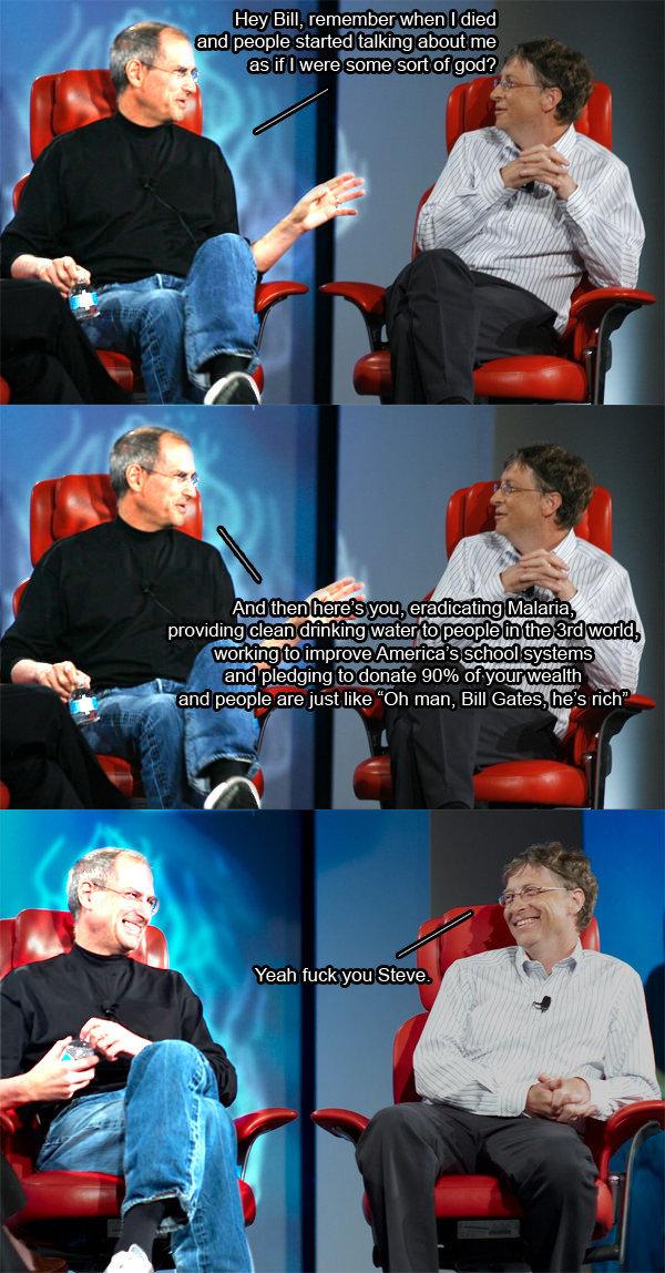 Steve Jobs, Death, Bill Gates