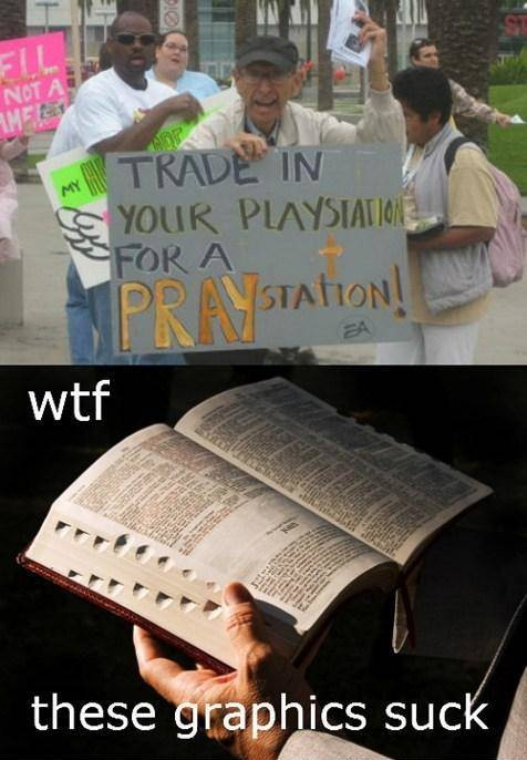 religion, playstation, sony, bible, meme