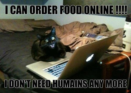 I can order food online, I don't need humans any more