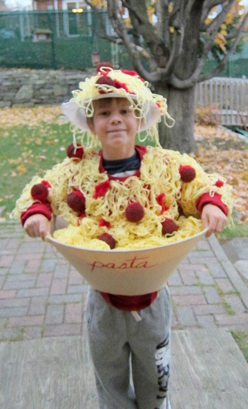 costume, halloween, spaghetti