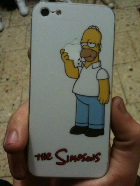 homer simpson eating the apple logo iPhone case