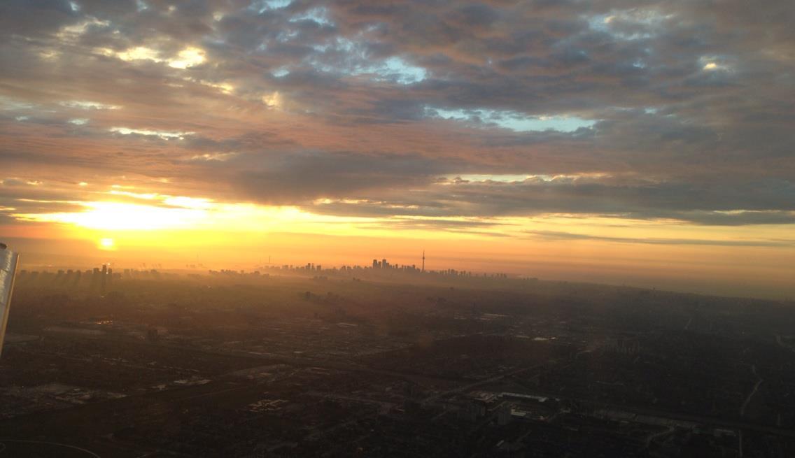 toronto, skyline, sunrise