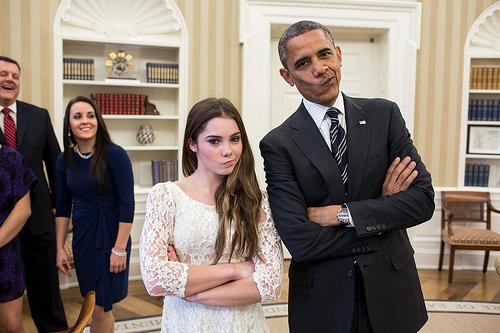 barack obama and mackayla maroney