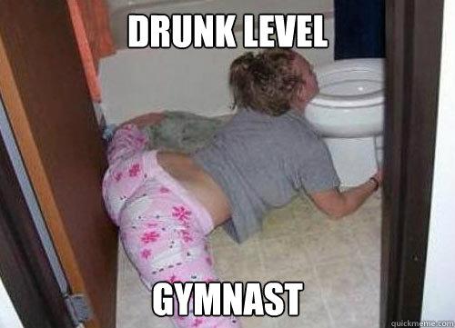drunk, gymnast, flexible