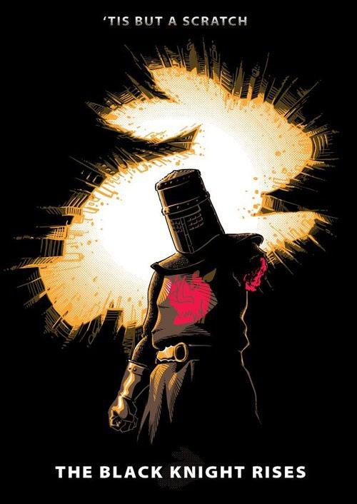 'tis but a scratch, the month knight rises, monty python batman mashup