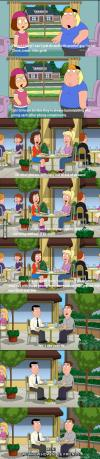 family guy, long, men, women, friends, hypocrite, backstab, compliment, insult
