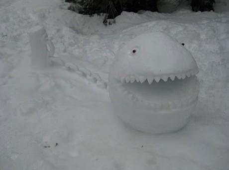 Snow, sculpture, chain