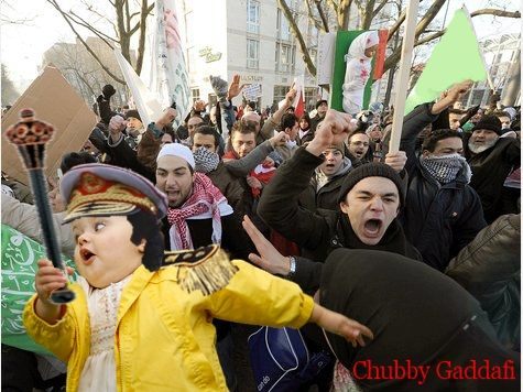 chubby bubbles girl, protest