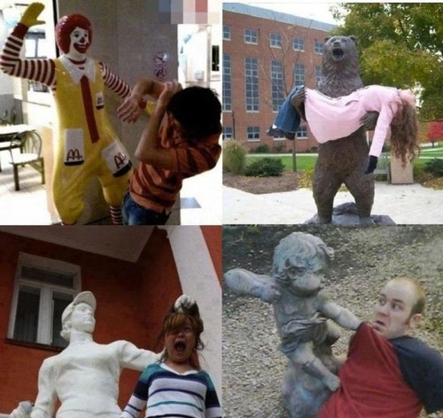 When statues attack, ronald mcdonald, hacked irl