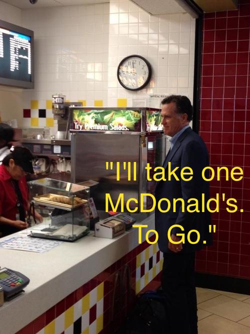 romney, mcdonalds