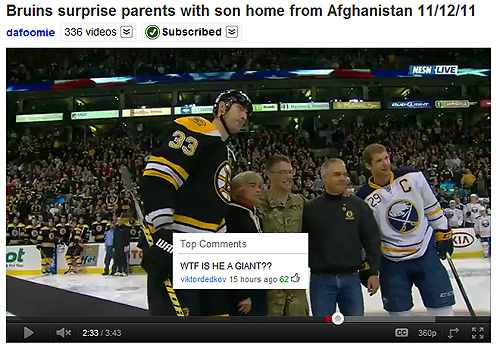 youtube, comment, chara, giant, bruins, boston