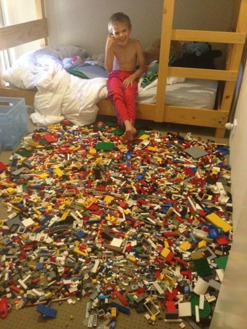 lego, kid, dirty, room, win, fail