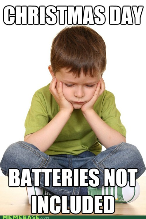 christmas, gift, batteries, meme, disapoint