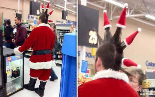 christmas, punk, mohawk, santa