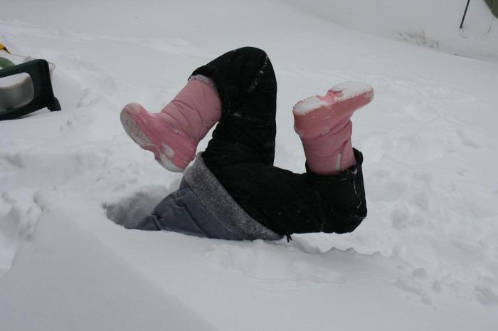 snow, fail, buried, kid