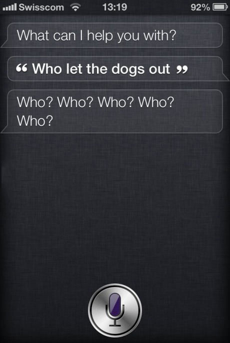 Siri, iPhone, lol