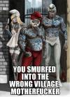 smurf, bad ass, gang, meme