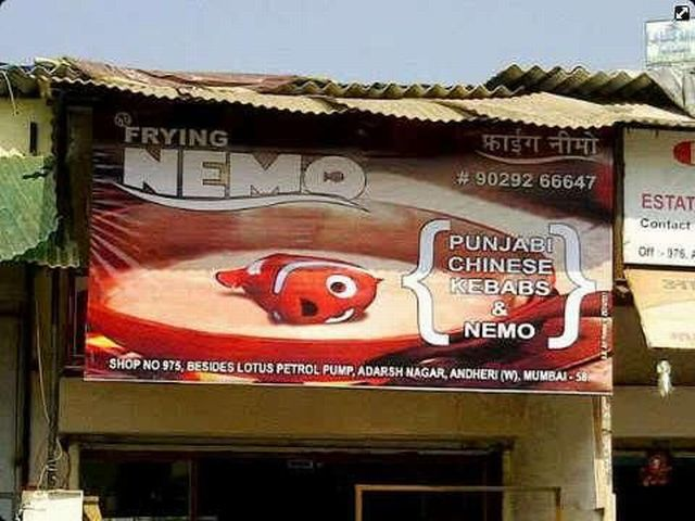 finding, nemo, frying, sign, win