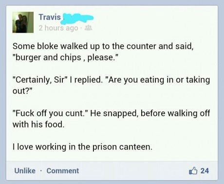 Prison, order, to go, lol