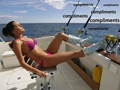 boat, girl, bikini, pose, fishing, compliments