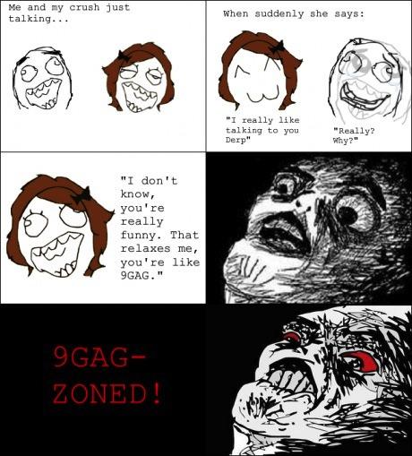 meme, 9gag, zone, crush