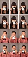 moustache, mug, coffee, tea, product, win