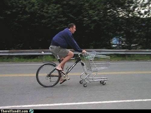bike, frankenbike, shopping cart, wtf