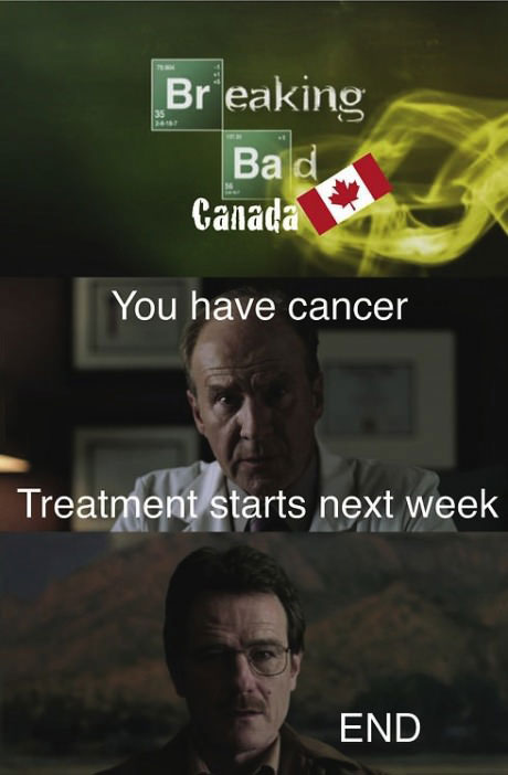 canada, healthcare, breaking bad, lol, comic, tv, show