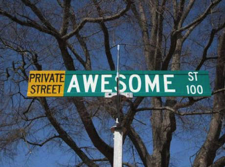 awesome street, street name