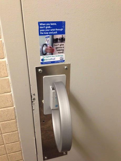 germs, toilet, door, handle, win