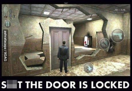 video game, logic, fail, door, lock