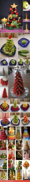 christmas, tree, fruit, food