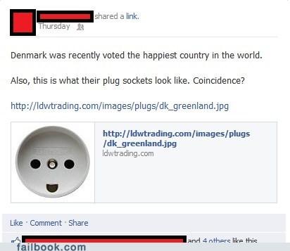 denmark, plug, happy