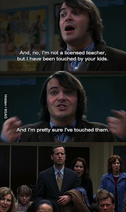 jack black, kid, touch, comic, movie