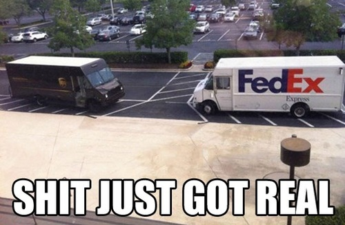 fedex, ups, truck, shipping, delivery, meme