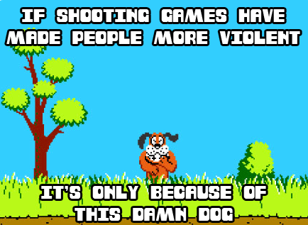 video game, duck hunt, violence