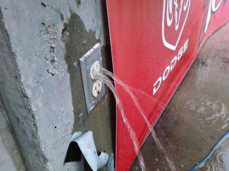 socket, plug, water, wtf